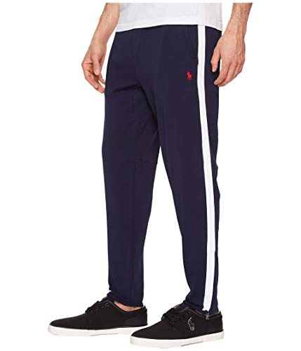 n's Interlock Athletic Track Pants (X-Small, French Navy/Red Pony) ()