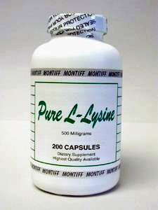 Pure L Lysine 500 mg 200 cap by Montiff