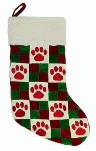 Quilted Paw Stocking by Kyjen