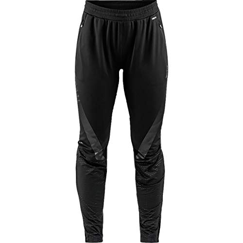 Craft Sportswear Women's Sharp Nordic Cross Country Skiing and Training 3/4 Zip Refelective Ventilating Pants, Black, X-Small (Backcountry Cross Country Skiing)