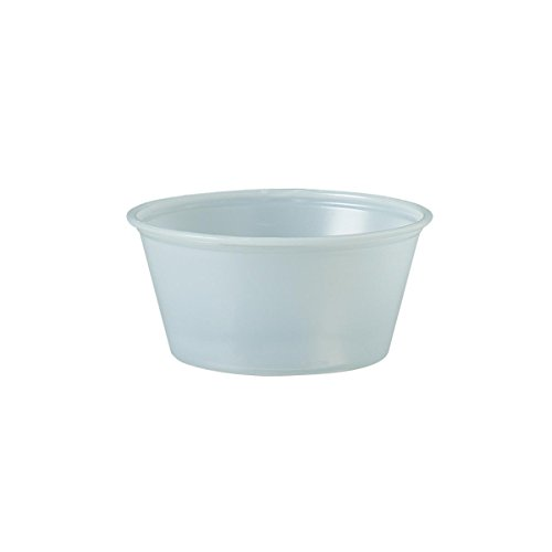 SOLO P325-0100 Plastic Soufflé Cup, 3.25 oz., Translucent (Case of 2500)