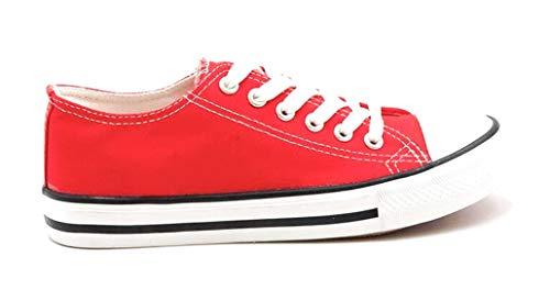 À Plate Joia Chaussure Petite Rouge Classique Lacets rFFIExqw
