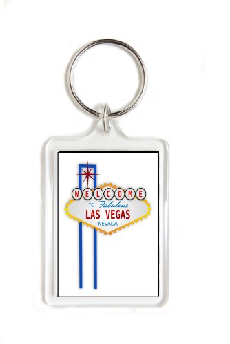 Welcome to Las Vegas Sign Double Sided Acrylic Key Ring Medium Keyring Keychain Stocking Stuffer