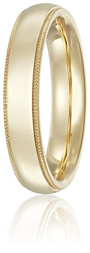 Standard Comfort-Fit 14K Yellow Gold Milgrain Band, 4mm, Size 6.5 by Amazon Collection (Image #2)