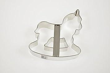 Birkmann AES Schaukelpferd Ausstecher Plätzchenform Plätzchen Edelstahl 12 cm