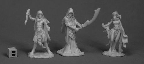 Reaper Miniatures Cultists (3)77517 Bones Unpainted RPG D&D Figure ()