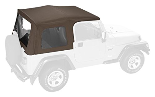 - Pavement Ends by Bestop 51130-37 Spice Replay Replacement Soft Top Clear Windows w/Upper Door Skins for 1988-1995 Jeep Wrangler