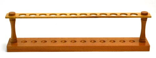 [Eisco Labs Premium Wooden Test Tube Rack, (12) 22mm Holes, 16.75