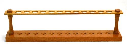 [Eisco Labs Premium Wooden Test Tube Rack, (12) 22mm Holes, 16.75