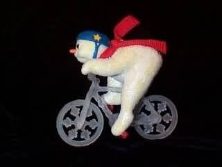 Snowman Icicle Ornament - Hallmark 1993 Icicle Bicycle Christmas Ornament Snowman