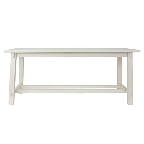 Décor Therapy Bench, Antique white (Bench White Wooden)