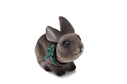 Charming Bobblehead Bunny Rabbit with Dashboard Adhesive (Grey) ()