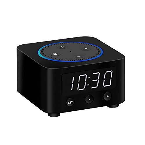 Clock Stand for Amazon Echo Dot 2nd Gen (Black)