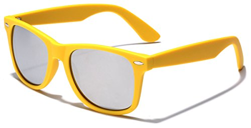 Colorful Retro Fashion Sunglasses - Smooth Matte Finish Frame - Silver Mirror Lens - - Cheap Buy Online Sunglasses