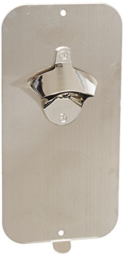 "Master Magnetics 07581 Magnetic Bottle Opener and Cap Catcher,Brushed Stainless Steel,5"" Wide, 10.5"" Height(Box of 1)"