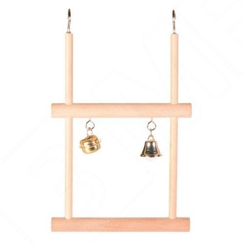 Trixie Holz Swinging Trapeze mit zwei Glocken, 12x 20cm, 4Stück
