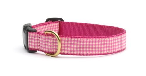 Up Country Pink Gingham Collar M