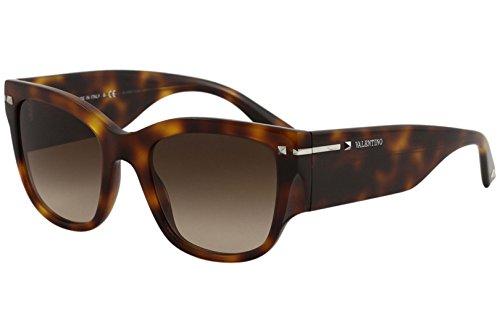 Valentino Women's VA4029 VA/4029 5011/13 Light Havana Square Sunglasses 51mm