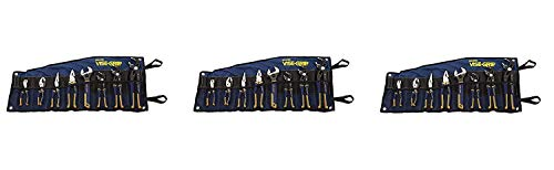 3 Piece Vise - Irwin Tools VISE-GRIP GrooveLock Pliers Set, 8 Piece, 2078712 (Pack of 3)