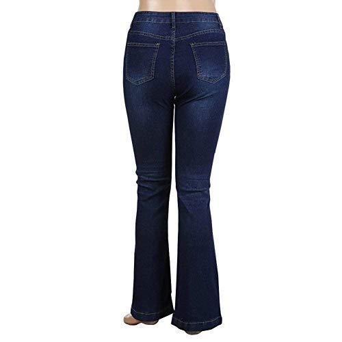 Las Vaqueros Huixin Pantalones Fit Denim Cintura Elásticos De Flaco Slim Legging Alta Con Stretch Mujeres Chern Jegging Básicos Navy Agujeros Mezclilla qBqtpw5g