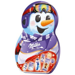 Milka Snow Mix - Calendario de Adviento con Mezcla de Leche Alpina y Chocolate