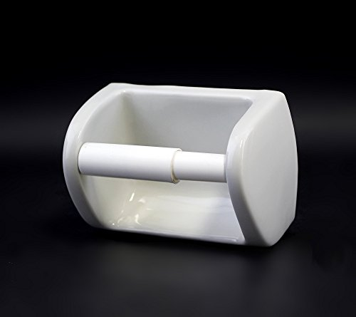 Porcelain Toilet Roll Holder Amazoncouk Kitchen Home