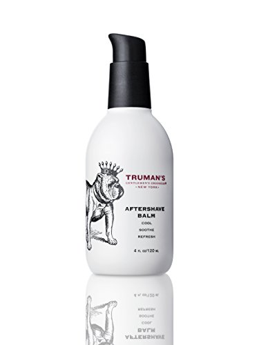 Trumans Gentlemens Groomers Mens Aftershave Balm - Premium After-Shave Lotion, Soothe & Moisturize Face After Shaving for Manly Smooth Skin - Prevents Razor Burn & Hydrates 4oz