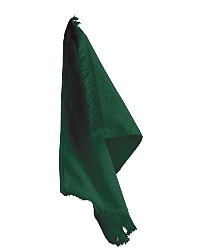 (Towels Plus T600 Anvil Fringed Fingertip Towel - Hunter Green)
