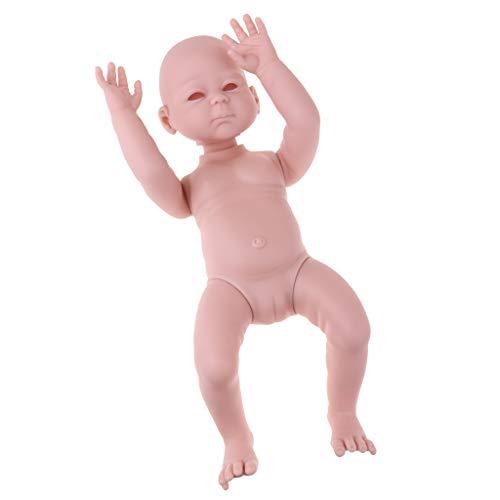 Prettyia 未塗装 20インチ リボーンキット フルボディ ビニール製 空白 新生児 睡眠 ベビー 女の子 人形 子供用 手遊び おもちゃ