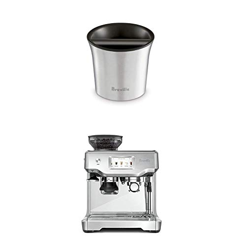 Breville BCB100 Barista-Style Coffee Knock Box with Breville the Barista Express Espresso Machine, BES870XL with Breville BES880BSS Barista Touch Espresso Maker, Stainless Steel