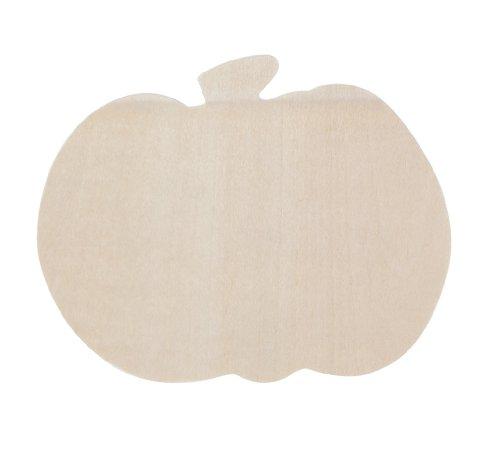 Darice 9171-58 Undecorated Wood Short Pumpkin Shape