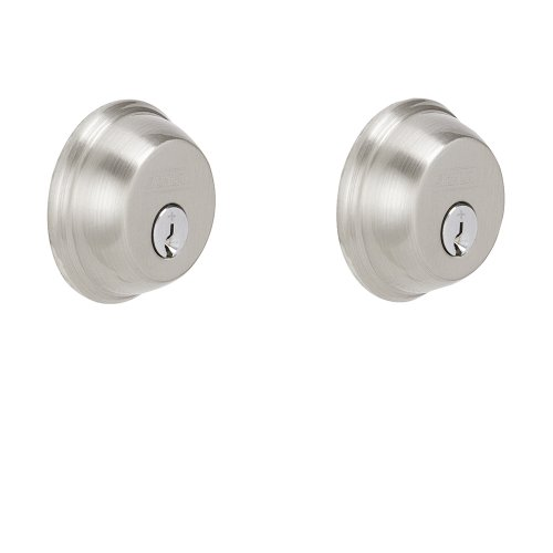 Schlage B62N619 Deadbolt, Keyed 2 Sides, Satin Nickel (Double Deadbolt Door Lock compare prices)