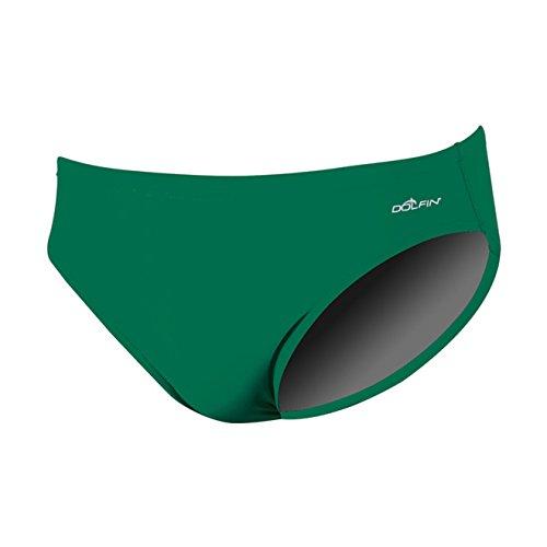 (Dolfin Swimwear Men's Solid Racer - Green, 34)