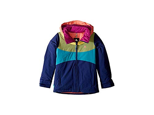 Burton Girls' Hart Jacket, Medium, Spellbound/Georgia Peach/Sunglow/Mosstone, Large ()