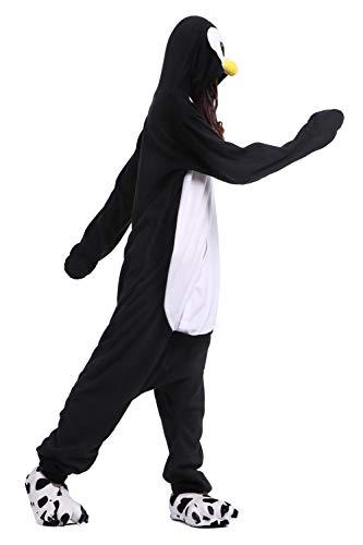 Noir Adulte Unisexe Pyjama Pingouin Costume Combinaison Animal Cosplay IqxwC0WRB6