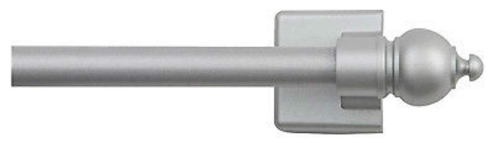 Petite CAF Curtain Rod, Magnetic, Satin Silver, 16 to 28-in. by Unknown