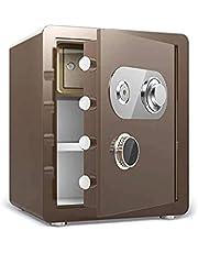 KJLY Office Cabinet Safes Small Safes Hotel Safes Storage Safes Mechanical Security Lock Boxes Safes Cash Boxes, 38x33x45cm