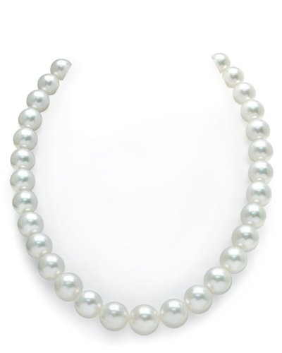 14K Gold 11-14mm Australian White South Sea Cultured Pearl (White Australian South Sea Pearl)