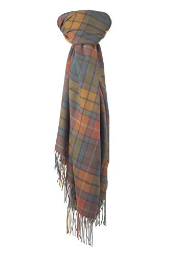 The Tartan Blanket Co. Cashmere Blanket Scarf Buchanan Antique Tartan (Wool Blanket Antique)