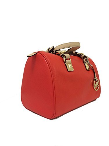 a8fc883653bf Amazon.com  Michael Kors Grayson Medium Satchel Mandarin Orange Leather   Clothing