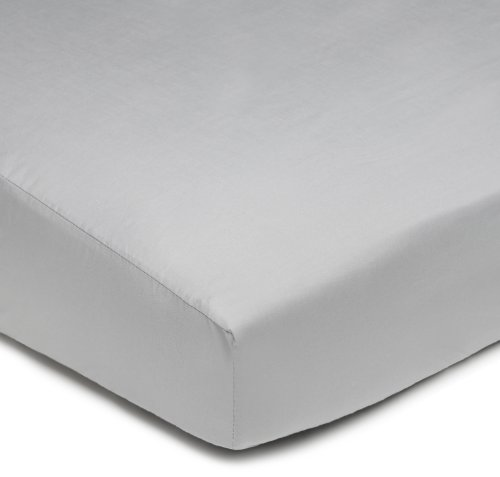 American Baby Company 100% Cotton Percale Fitted Crib Sheet,  Gray