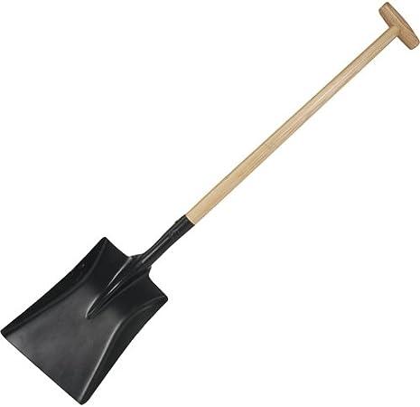 Silverline Square Mouth Shovel 1080mm T Handle steel garden scoop spade snow