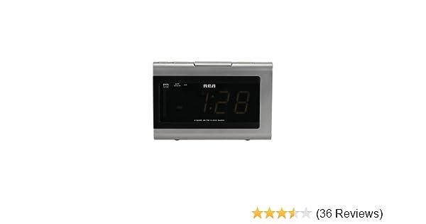 amazon com rca rp5420 am fm clock radio with 1 4 inch display and rh amazon com