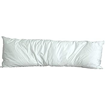 White Goose Down and Feather Body Pillow - Pillows Size 20 Inches x 72 Inches