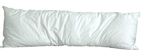 White Goose Down and Feather Body Pillow - Pillows Size 20 Inches x 60 Inches