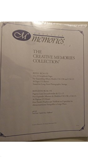 Creative Memories 12 X 15 White Scrapbook Pages