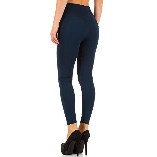 Damen Leggings, WARM GEFÜTTERTE HIGH WAIST ZIPPER, SS-BFPAN0075, Dunkelblau, ONE SIZE