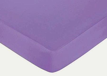 Fitted Crib Sheets,Super Soft Crib Bedding Sheets,100% Cotton Muslin Bedding,Baby Bedding Sheets 52x 28x 8(Solid Purple)