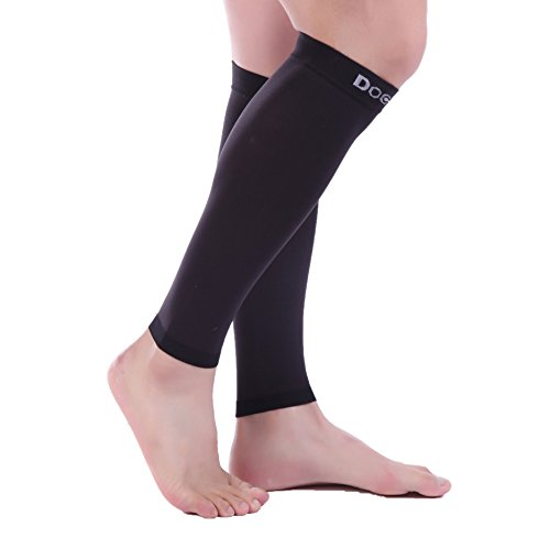 Doc Miller Premium Calf Compression Sleeve 1 Pair 20-30mmHg Strong Calf Support Graduated Pressure for Sports Running Muscle Recovery Shin Splints Varicose Veins (Black, 5X-Large) by Doc Miller (Image #3)