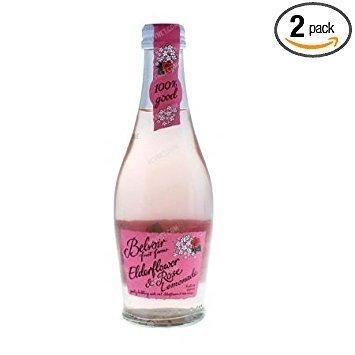 Belvoir Elderflower & Rose Bubbling Lemonade 8.45 oz. (Pack of 2)